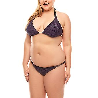 MACHA triangle bikini Aztec pattern plus size purple