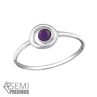 Circle - 925 Sterling Silver Jewelled Rings - W37504x