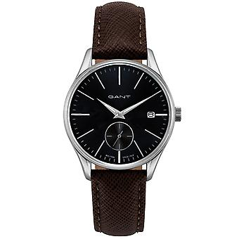 GANT elegant men's watch from mineral glass silver