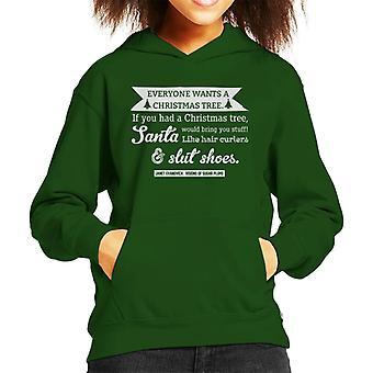 Visions Of Sugar Plums Janet Evanovich Christmas Quote Kid's Hooded Sweatshirt
