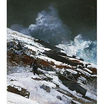 Winter Coast, Winslow Homer, 60x50cm