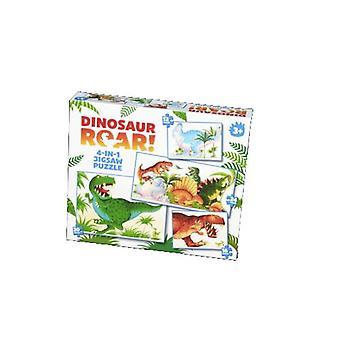 Dinosaur gebrul! 4-in-1 legpuzzels