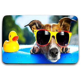 i-Tronixs - Underwater Dog Printed Design Non-Slip Rectangular Mouse Mat for Office / Home / Gaming - 4