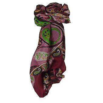 ساحة الكلاسيكية الحرير التوت الأحمر إندور وشاح من الباشمينا & الحرير