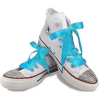 Turquoise Satin Laces