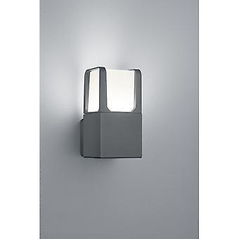 Trio Lighting Ebro Modern Anthracite Diecast Aluminium Wall Lamp