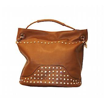 Waooh - Fashion - Effect Leather Handbag And Strass Dina