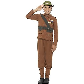 Horrible Histories Soldier Costume, Brown, with Top, Trousers &  Hat