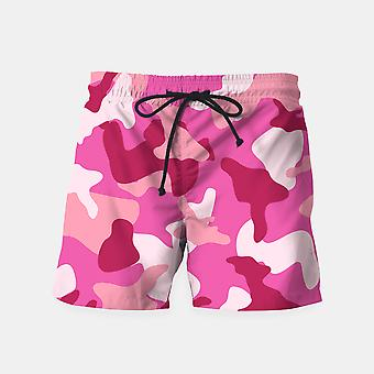 Pink Camouflage Army Pattern Shorts