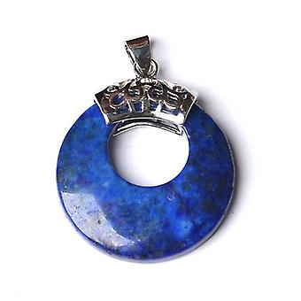 1 x Blue Lapis Lazuli 28mm Donut Charm/Pendant CB50105