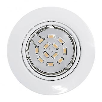 Eglo Peneto weißer Kreis LED Einbauleuchten Leuchte