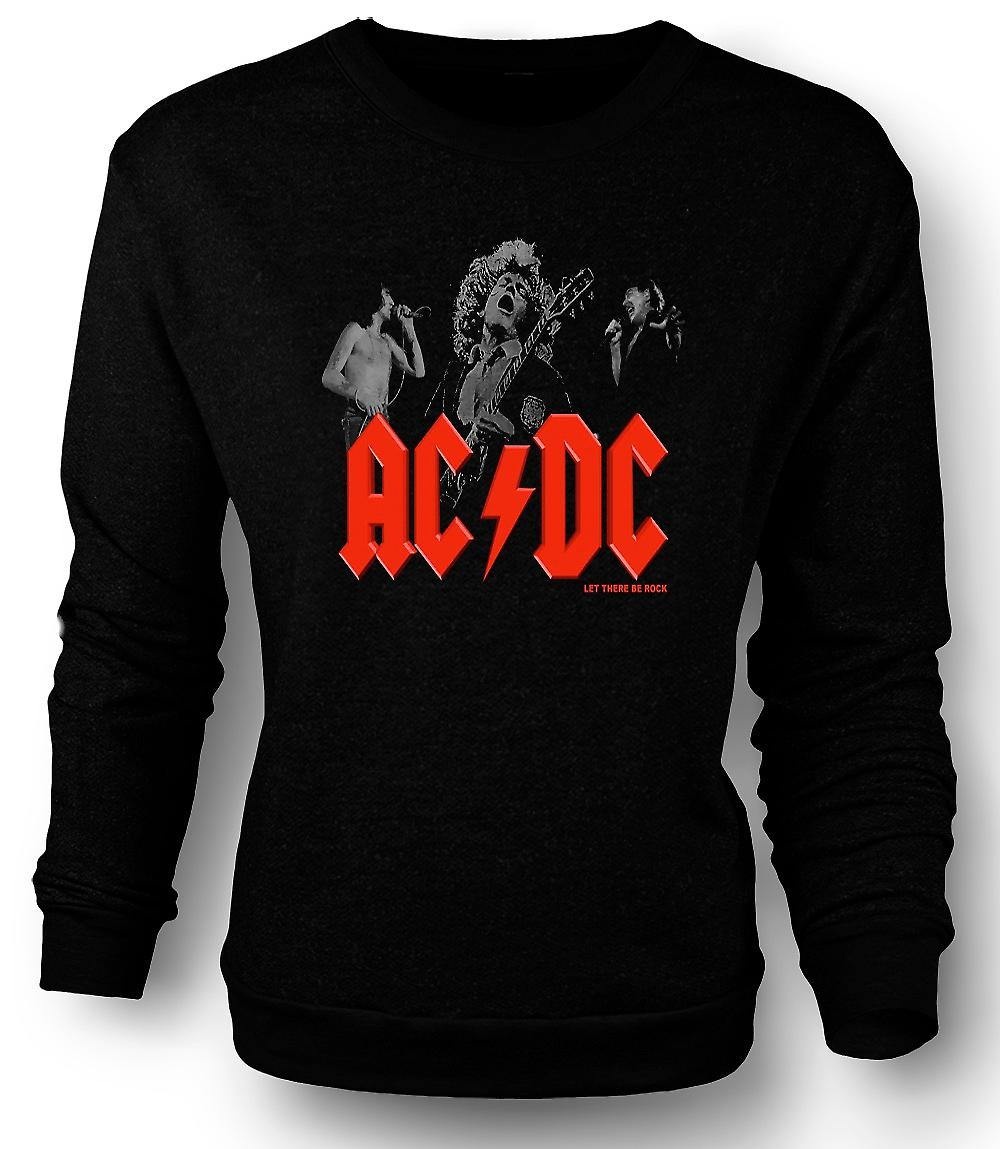 Mens Sweatshirt AC/DC - Let There Be Rock - Band