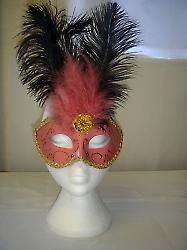 Deluxe Pink Eyemask With Glitter And Feathers (1)