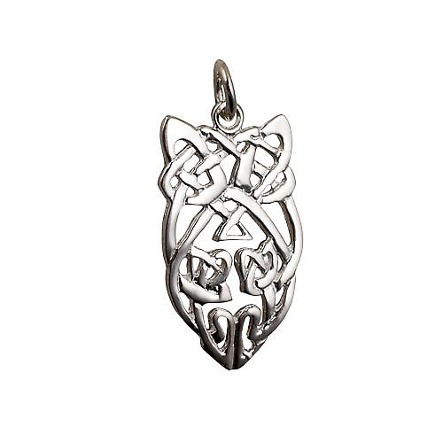 Silver 26x16mm Celtic knot Pendant