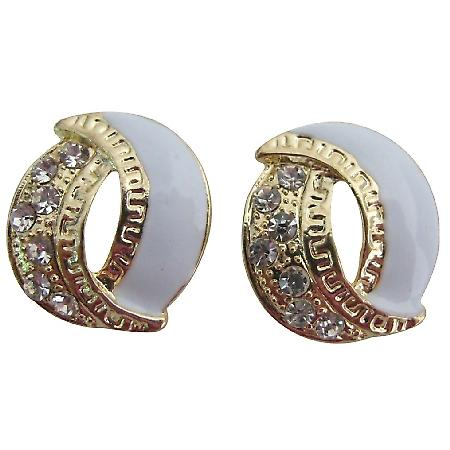 Graceful Eye Catching Earrings White Gold Fancy Stud Earrings