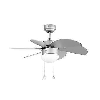Faro - ventilador de teto cinza Paula pequeno com luz FARO33186