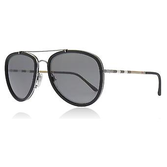 Burberry BE3090Q 1003T8 Gunmetal/Matte Black BE3090Q Pilot Sunglasses Polarised Lens Category 2 Size 58mm
