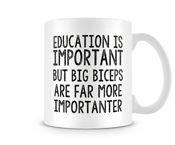 Big Biceps More Importanter Mug