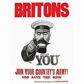 Britons Join Your Country's Army drinks mat / coaster