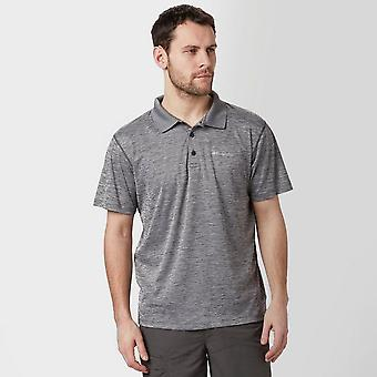 New Columbia Men's Zero Rules Casual Active Clothing Polo Shirt Grey