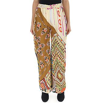 Christian Louboutin Multicolor Silk Pants