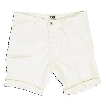 Edwin Denim Rail Bermuda Shorts, Off White