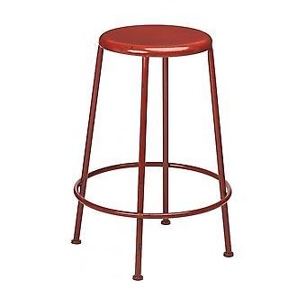 Fusion Living Red Metal Distressed Artisan Bar Stool