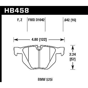 Hawk prestaties HB458Z. 642 PC