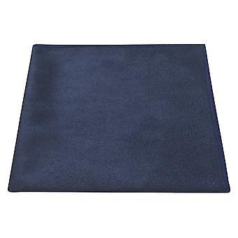 Luxury Navy Blue Suede Pocket Square, Handkerchief