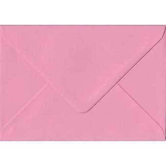 Pastel Pink Gummed C7/A7 Coloured Pink Envelopes. 100gsm FSC Sustainable Paper. 82mm x 113mm. Banker Style Envelope.