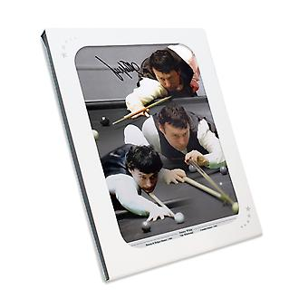 Signed Jimmy White Snooker Photo: The Whirlwind. In Gift Box