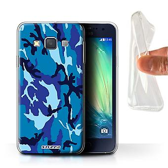 STUFF4 Gel TPU Phone Case / Cover for Samsung Galaxy A3/A300 / Blue 4 Design / Camouflage Army Navy Collection