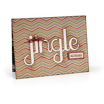 Sizzix Thinlits Die Card with Jingle Cut Out 5.5