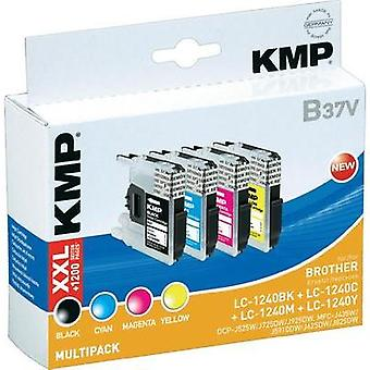 KMP Ink replaced Brother LC-1240 Compatible Set Black, Cyan, Magenta, Yellow KMP B37V 1524,0050