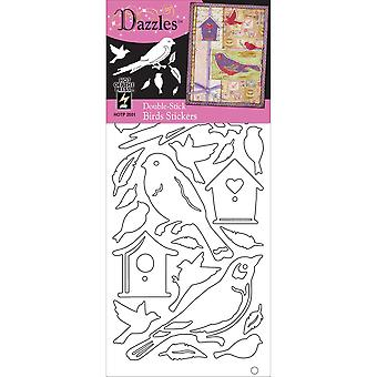 Double Stick Dazzles Stickers-Birds-Clear DSDAZ-2551
