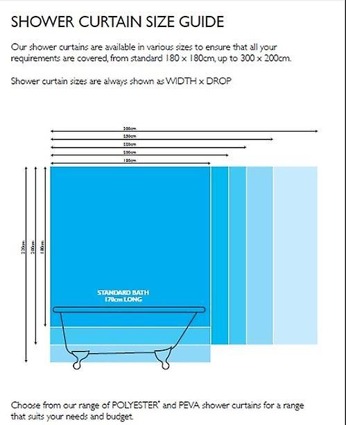 Sphere Design Gold Polyester Shower Curtain 180 x 180cm