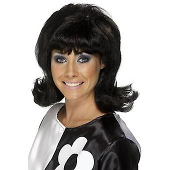 Smiffys 60'S Flick-Up Wig Black Short (Kostüme)