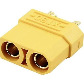 Battery receptacle XT90 Gold-plated 1 pc(s) Reely