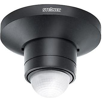Surface-mount, Ceiling PIR motion detector Steinel 602512 Relay Black IP54