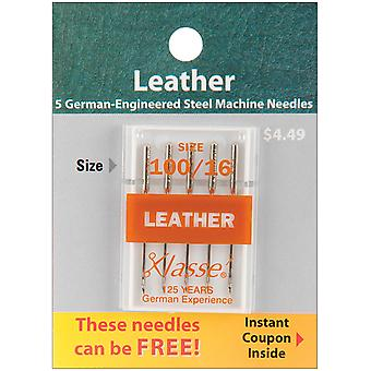 Klasse Leather Machine Needles -Size 16/100 5/Pkg A5104-10016