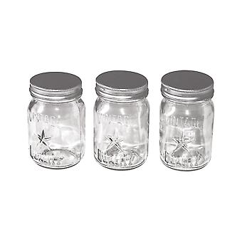 Idea-Ology Mini Glass Mason Jars 3/Pkg-Clear 4