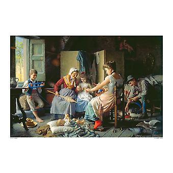 A Happy Family Poster Print by Giovanni Battista Torriglia (34 x 24)