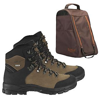 AIGLE Cherbrook MTD Waterproof Hiking Boots with Aigle walking boot bag