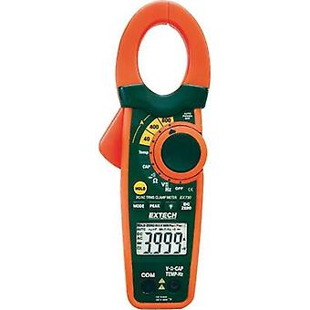 Current clamp, Handheld multimeter digital Extech EX730 Calibrated to: Manufacturer standards CAT III 600 V Display (co
