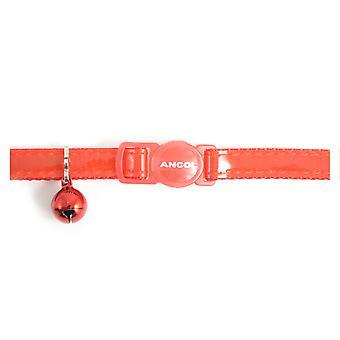 Säkerhet spänne katt krage Gloss reflekterande röd (förpackning med 3)