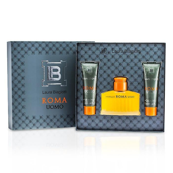 Laura Biagiotti Roma Coffret: Eau De Toilette Spray 75ml 2.5 oz + ducha & baño gel 50 ml / 1.6 oz 2 x 3pcs