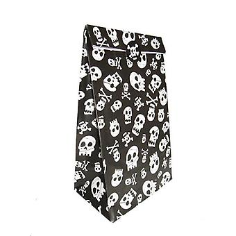 Paper Party bags - Skull and Cross bones - pack of 8 with fastening stickers