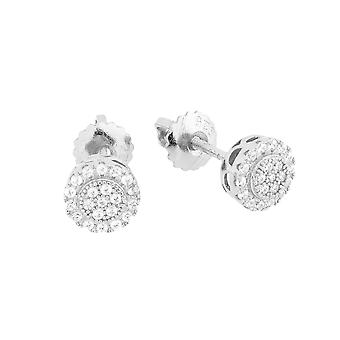 925 MICRO PAVE earrings - STUD 6 mm silver