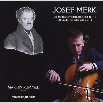 Merk / Rummel - 20 Etudes for Cello Solo Op 11 [CD] USA import