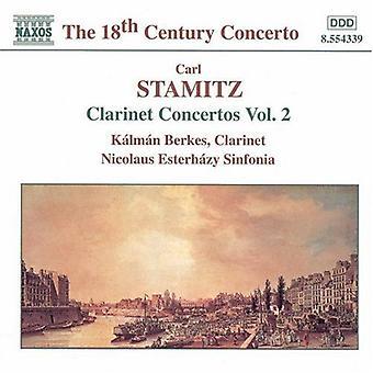 C. Stamitz - importazione USA Stamitz:Clarinet concerti Vol. 2 [CD]